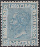 ITALY Regno - 1867 Sassone n. 26L Certificato cv 390$  unused