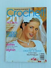 Crochet magazine March 2003 15 projects Bride dress wedding accessories afghan