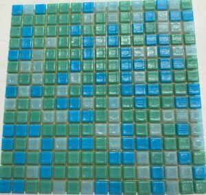 Bisazza MOSAICO/COLORS/VELOURS Tiles Blue/Green Mosaic Tiles £96m2 (40 Sheets)