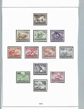 Complete Mounted MNH stamp set / 1943 Military set / Third Reich / WWII Germany