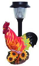 LAMPADA GALLO SOLARE in resina - animale da giardino -