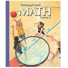 McDougal Littell Math, Course 2, 2007, Larson et al Student Text, 0618610707 NEW