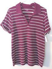 Womens Croft & Barrow Reddish Purple Striped S/S Top/Blouse, XL, NWT