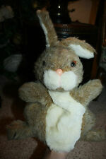 Rare Vintage 1981 Plush Bunny Rabbit Hand Puppet DAKIN Tan White A3