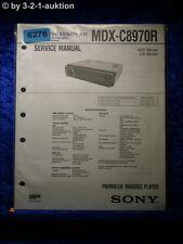 Sony Service Manual MDX c8970r Mini Disc Player (#6276)