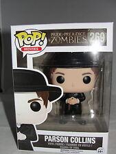 Funko Pop Movies Pride & Prejudice & Zombies Parson Collins Hat Vinyl Figure-New