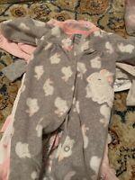 11 piece lot of newborn PJs/etc. baby girl  newborn.