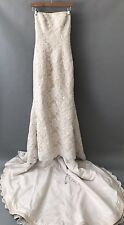 ZURC for Impression Strapless Mermaid Trumpet Wedding Dress in Champagne Size 8