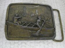 Vintage Indiana Metal Craft Ketter Canoeing Mpls Minnesota Brass Belt Buckle