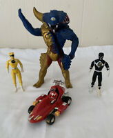 Vintage Power Rangers Mighty Morphine Alien 1993 Turbo Red Car Action Figures