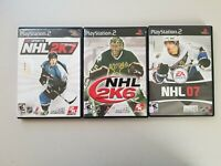 PS2 PlayStation 2 Lot Of 3 Games: NHL 07, NHL 2K6, NHL 2K7 EA Sports 2K