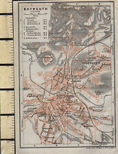 1925 GERMAN MAP ~ BAYREUTH CITY PLAN ENVIRONS St GEORGEN CHURCHES