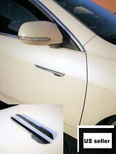 2x Universal 3D Carbon Fiber Side Marker Fender Molding Trim Strip Door Guard
