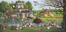 Charles Wysocki Love Tennis New England Americana Art with COA Folder Charming