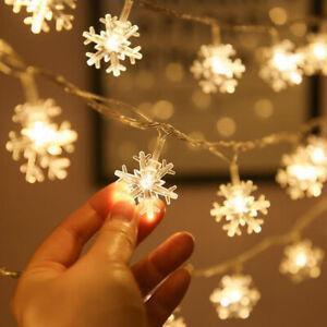 Snowflake LED Lights Christmas Decorations Home Hanging Garlands Christmas Tree