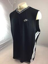 Vintage Nike 3Xl basketball practice jersey Black gray stripes Blank