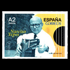 "Spain 2015 - Personalities Narciso Yepes ""1927-1997"" Music - MNH"