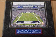 02bce201ce3 METLIFE STADIUM NEW YORK GIANTS FRAMED 8X10 PHOTO-MAN CAVE ART-12X15 WALL  PLAQUE