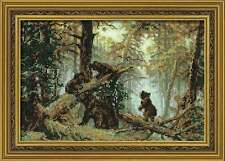 """Counted Cross Stitch Kit RIOLIS - """"Morning in a Pine Forest"""""""