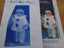 """T2 PATRON POUPEE """"JEAN MICHEL"""" M ET TRAVAUX"""" DEGUISEMENT PIERROT  1982"""