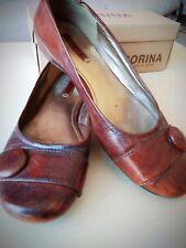 Zapatos de cuero marron, talla 40, marca 'ecco'