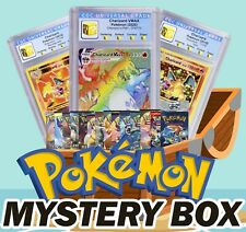 Pokemon Mega Mystery Box Base Set Booster Pack or Rainbow Charizard Vmax + More
