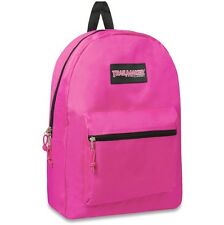 "NEW 17"" DURABLE BACKPACK SCHOOL COLLEGE UNIVERSITY LAPTOP CAMPING HIKING PINK"