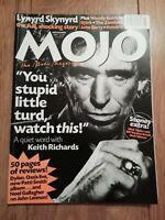 MOJO MAGAZINE ~ NOVEMBER 1997 # 48 KEITH RICHARDS LYNYRD SKYNYRD BJORK ZOMBIES