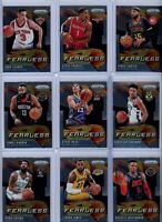 2019-20 Panini Prizm Fearless Insert Singles  - Pick Your Players