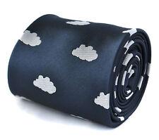 Frederick Thomas Navy Blu e Bianco SOFFICI Cloud realizzata a mano da Uomo Cravatta ft1974