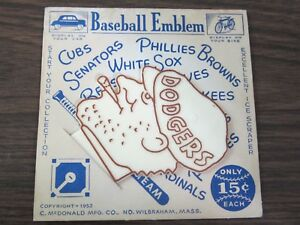 1952 Brooklyn Dodgers Baseball Emblem Ice Scraper C. McDonald MFG. (B)