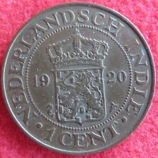 NETHERLANDS EAST INDIES, CENT 1920 IN XF- CONDITION! STARTPRICE 1 DOLLAR!