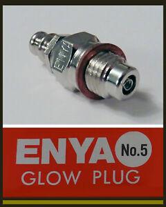 10x ENYA No.5 Glow Plug (medium/cold) 1.5-1.3 Volt *UK STOCK*