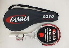 "Gamma G310 G-Series 100 Sq In Tennis Racquet w/4 1/2"" Grip & Case New Look"