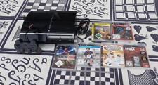 Sony PlayStation 3 80 GB negro Black konsonle + controlador + 2 juegos