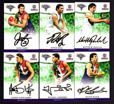 2007 AFL Champions Gold Foil Signature Team Set Cards x 6 - Fremantle
