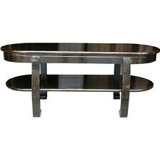Original Chinese Antique Black Coffee Table  with Shelf (37-095)