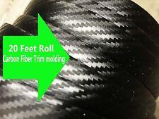 "20FT x 3/4"" CARBON FIBER TRIM Body Bumper Rocker Window Side Molding ch20 #2"