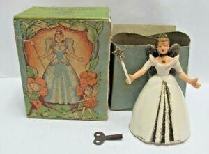 Vintage 1950's  Welso Wells Toys (GB) Mechanical Clockwork Fairy Queen - (3421)