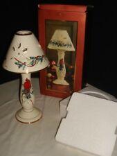 New w/Box Lenox Christmas Holiday Winter Greetings Candlestick Cardinal Lamp