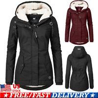 Women's Parka Hooded Hoodies Parka Winter Thicken Jacket Warm Coat Outwear US