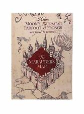 HARRY POTTER MARAUDERS MAP MOONY WORMTAIL PADFOOT PRONGS WOOD WALL ART BRAND NEW