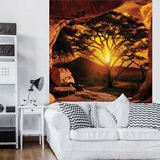 PAPIER Fototapeten Fototapete Tapete Natur Afrika Sonne Baum Blick 3FX10260P4A