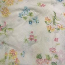 Vintage Springmaid Twin (flat sewn to be a) Fitted Sheet Flowers Floral