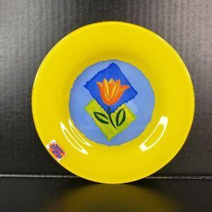 "Arcoroc France Matys Dessert Plate Yellow Tempered Glass Dinnerware 7 11/16"" NOS"