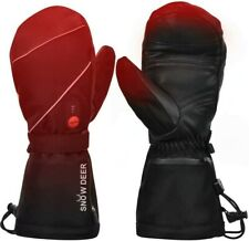 Snow Deer Black Heated Ski Gloves,7.4V 2200mAh Rechargeable Battery - XXXL
