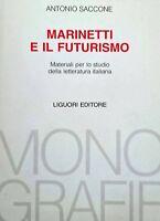 ANTONIO SACCONE Marinetti e il futurismo MATERIALI PER LO STUDIO... LIGUORI 1984