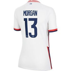 2020 Alex Morgan #13 USA WOMENS White 4 Star Soccer Jersey, Olympics