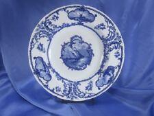 "HTF 1905 DELFTLAND FLOW BLUE 9 ¾"" SOUP BOWL CAULDON BROWN WESTHEAD MOORE ENGLAND"