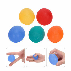 5Pcs Round Restore Strengthen Hand / Wrist / Fingers Therapy Exerciser Grip Ball